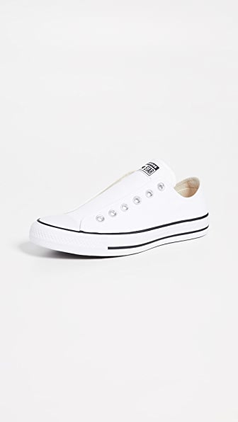 Converse Chuck Taylor All Star Laceless Low Top Sneaker In White/Black/White