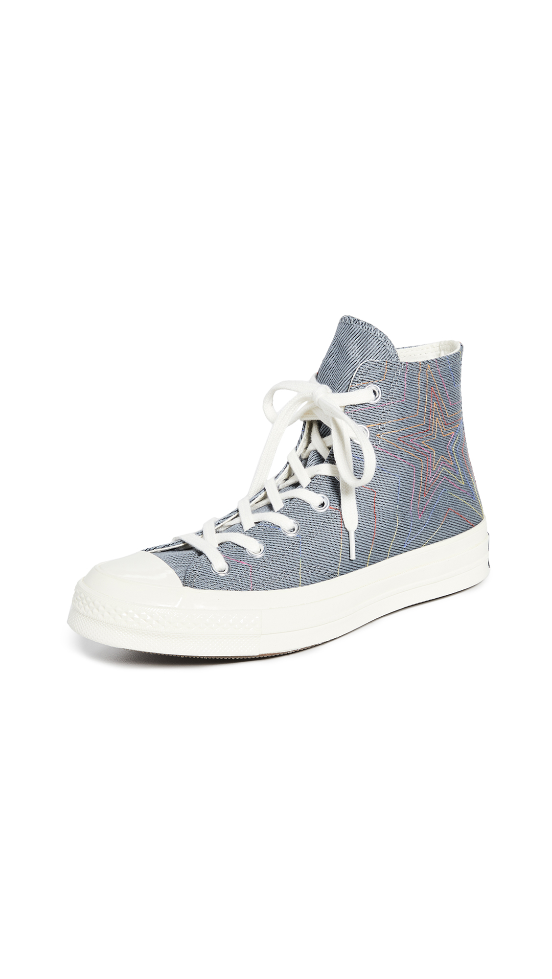 Chuck 70 Rainbow High Top Sneakers in BlackCool GreyEgret