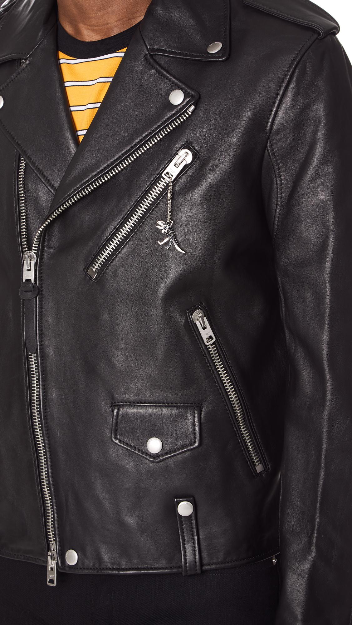 Coach 1941 Unisex Leather Moto Jacket East Dane