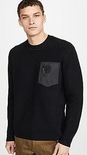 Coach 1941 Nylon Pocket Crew Neck Sweater