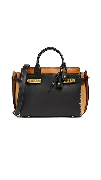 Coach 1941 Double Coach Swagger Bag In Black Multi