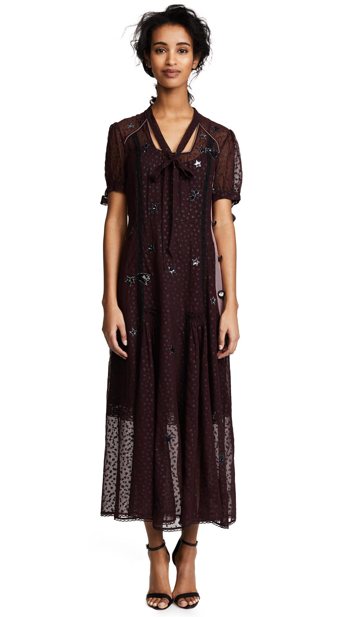 Coach 1941 Long Star Print Dress