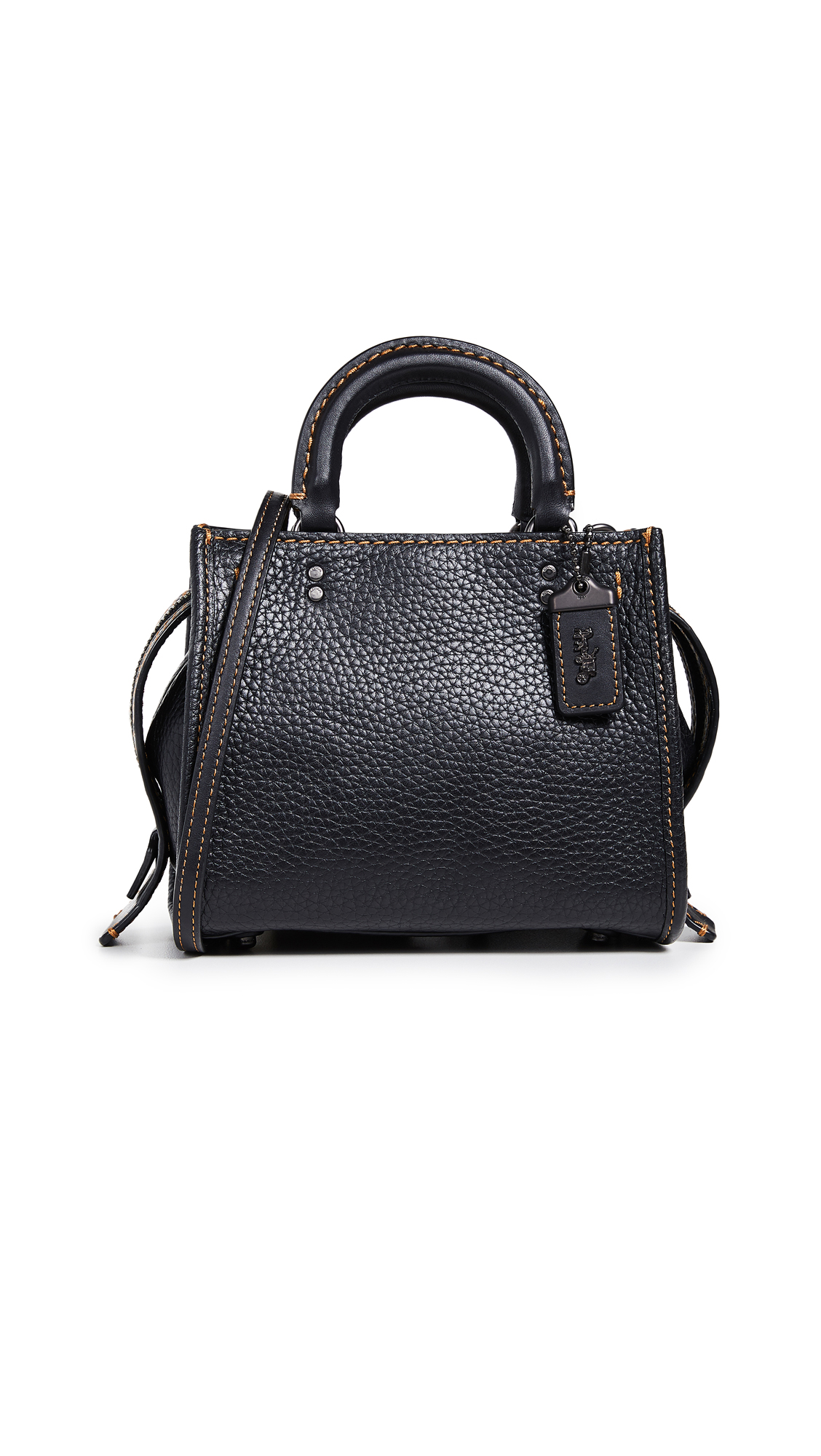 1941 Glovetanned Pebble Rogue Bag 17, Black