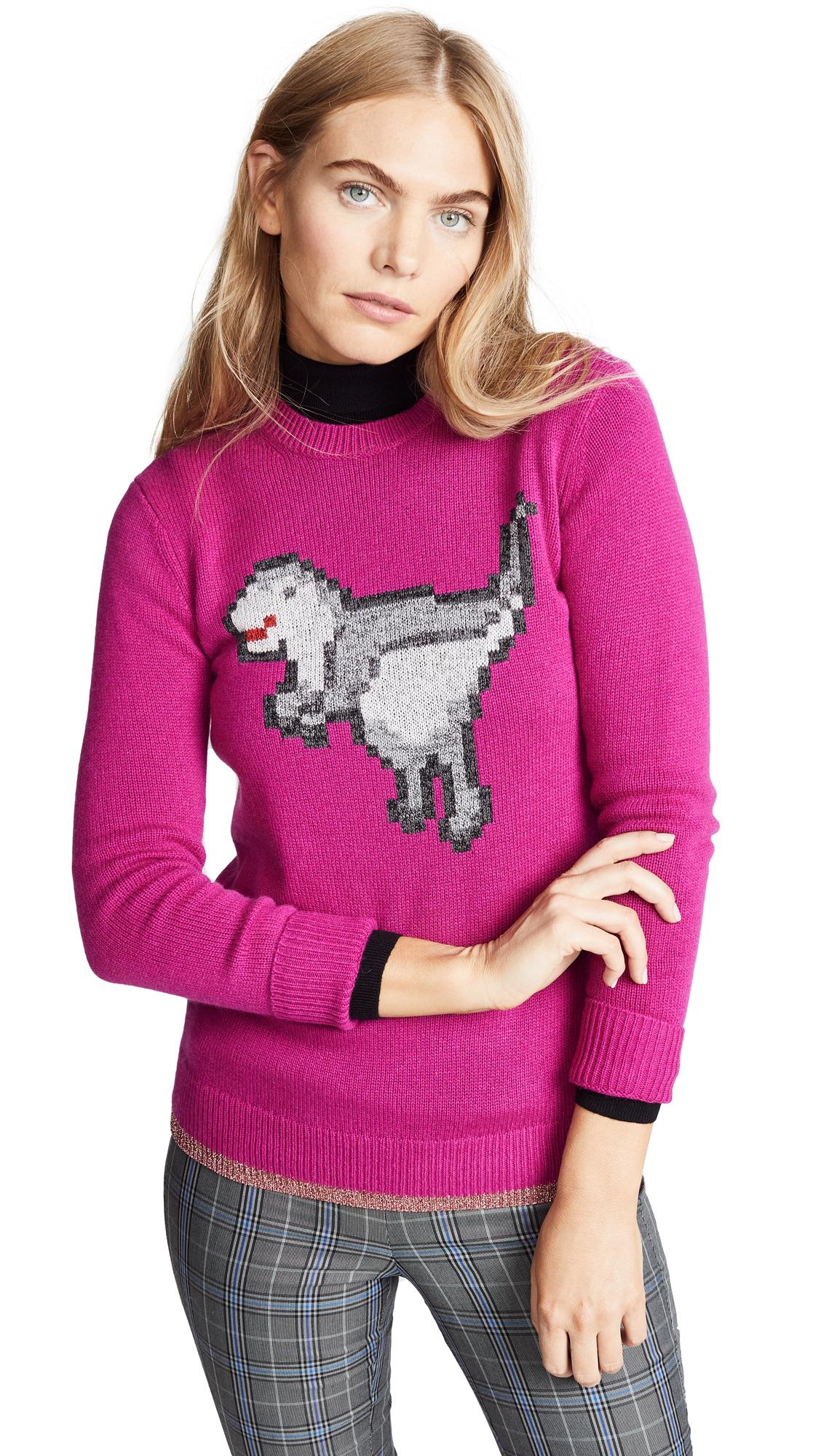 1941 Pixel Rexy Sweater in Magenta
