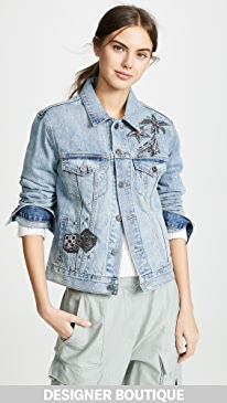 Coach 1941 Embellished Denim Jacket