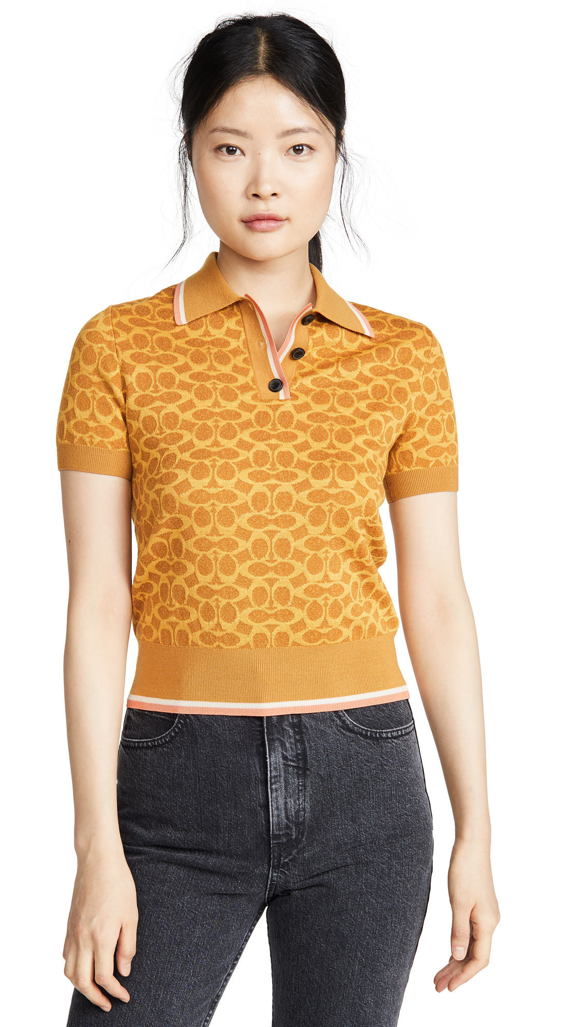 Coach 1941 Fitted Polo Top - Yellow