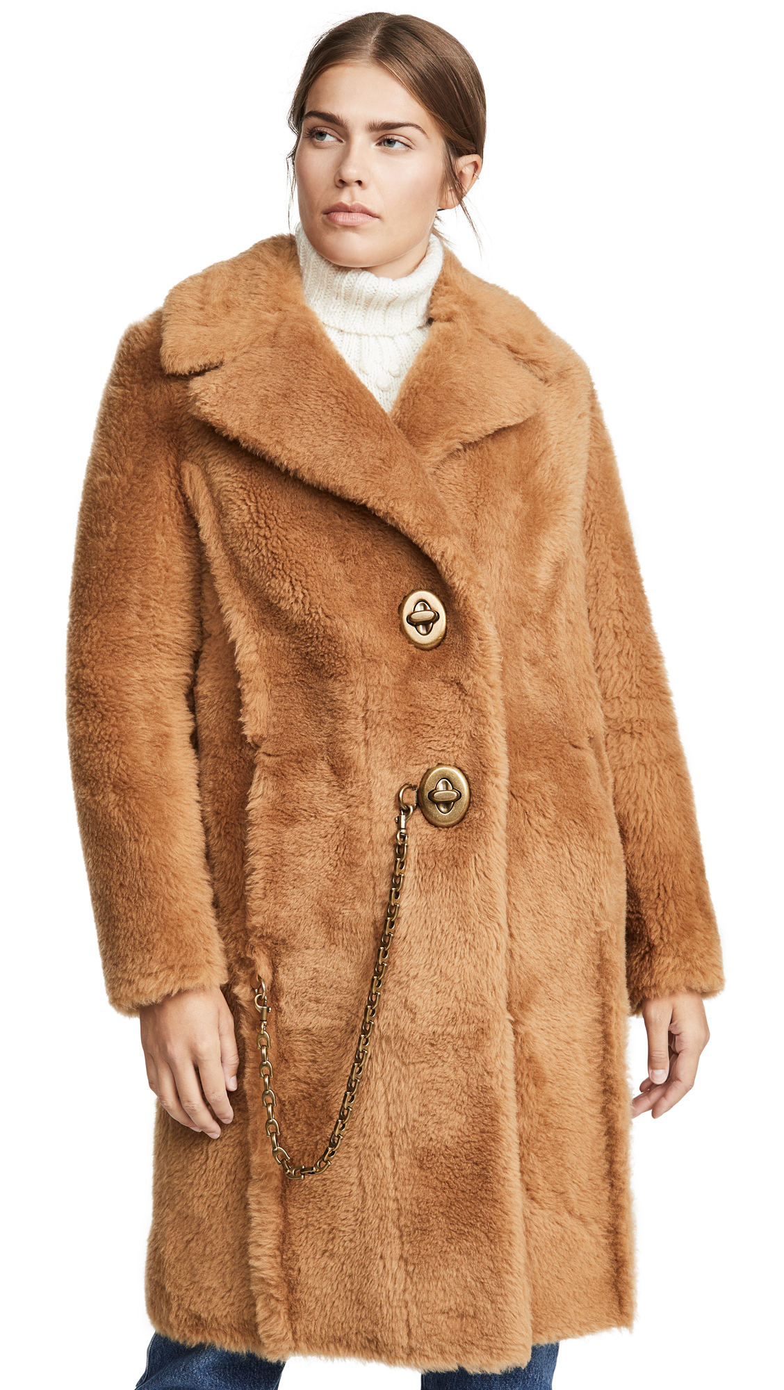 Buy Coach online - photo of Coach 1941 Long Shearling Coat
