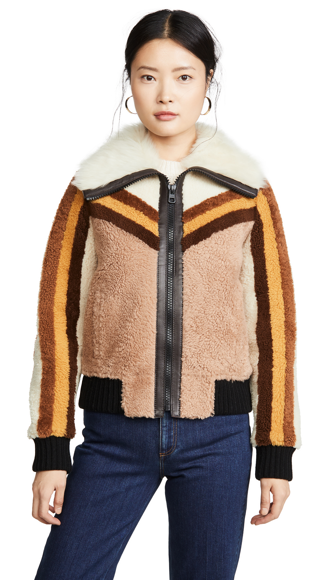 Buy Coach online - photo of Coach 1941 Shearling Bomber Jacket