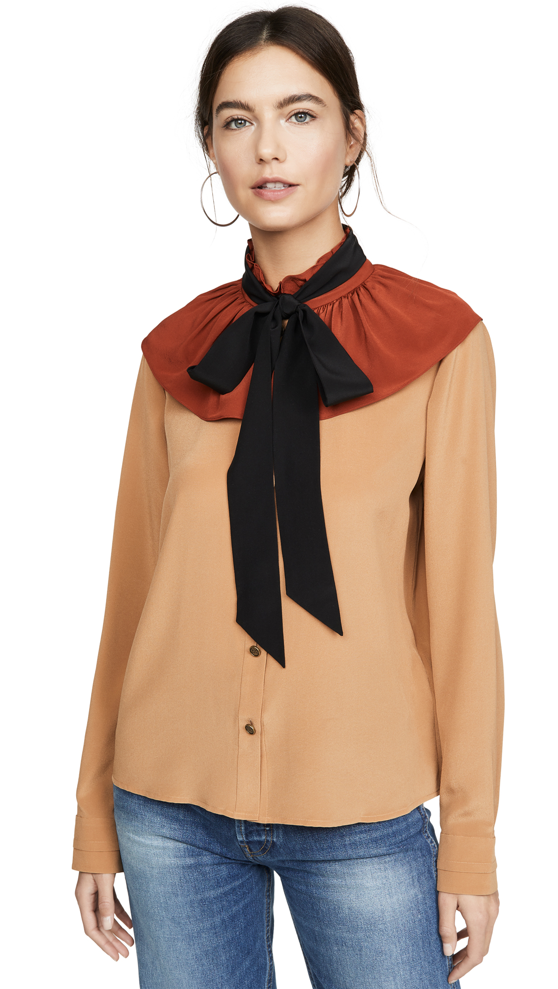 Coach 1941 Gathered Collar Blouse - 50% Off Sale