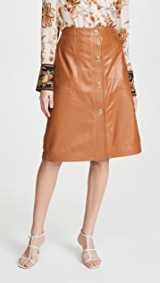 Coach 1941 Leather Skirt With Turnlocks