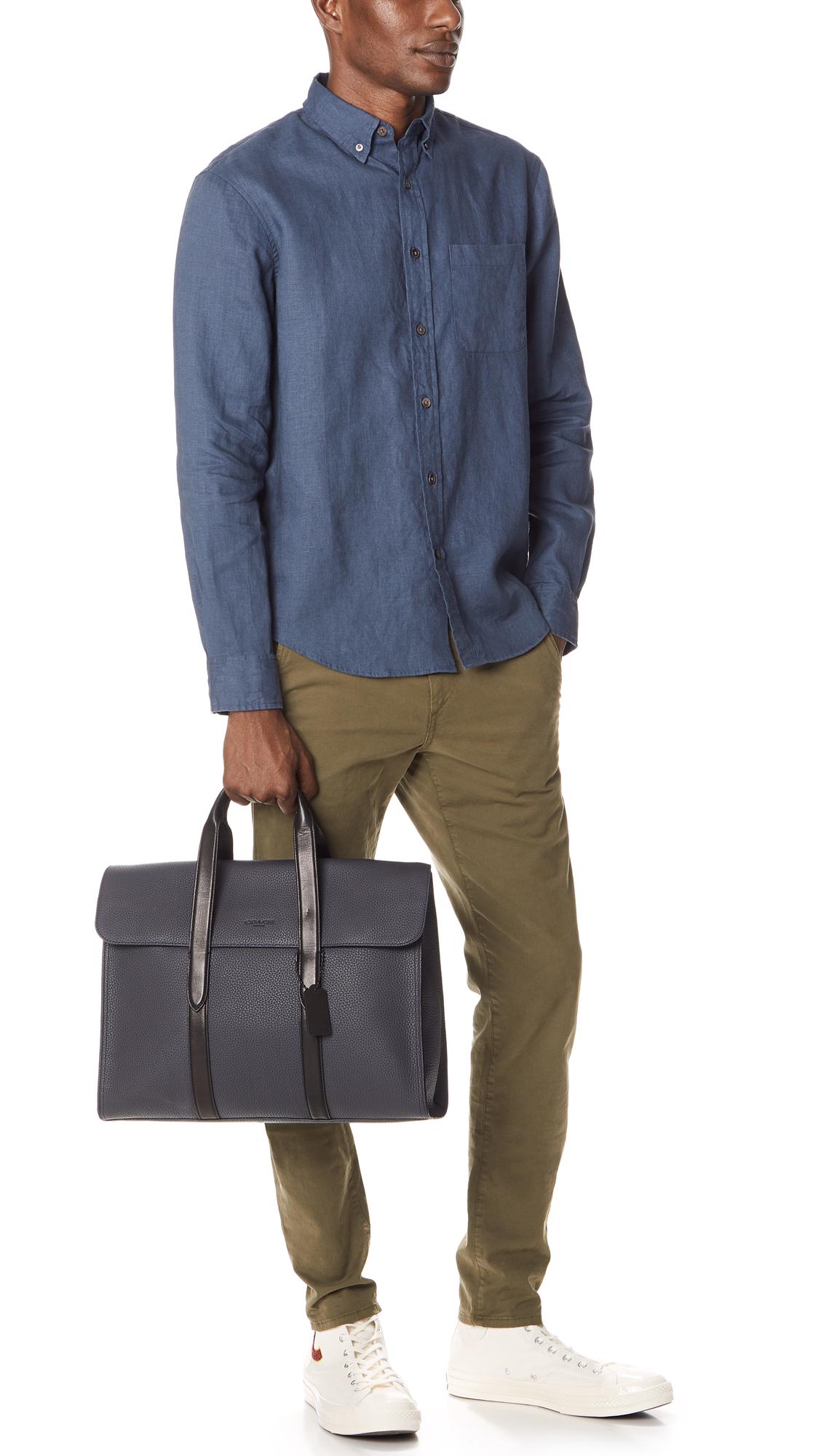 53affa21a Coach New York Harness Metropolitan Portfolio Briefcase   EAST DANE