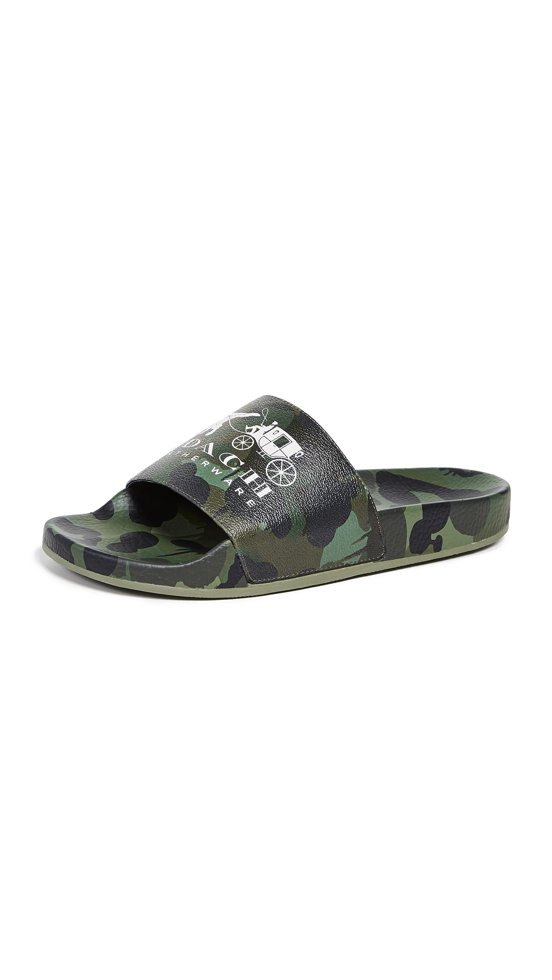 Coach Slippers REXY AND CARRIAGE WILD BEAST POOL SLIDES