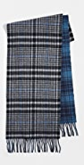 Coach New York Double Plaid Scarf