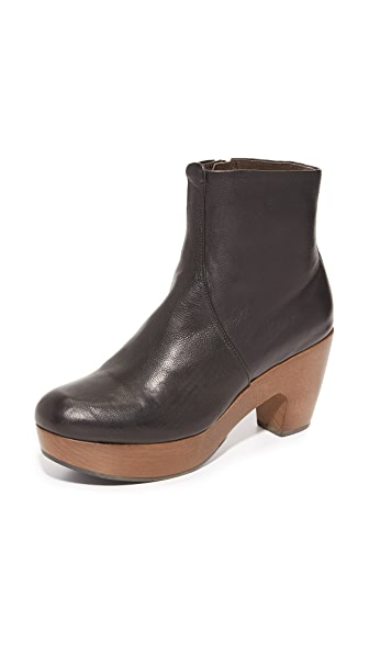 Coclico Shoes Tecla Clog Booties - Black