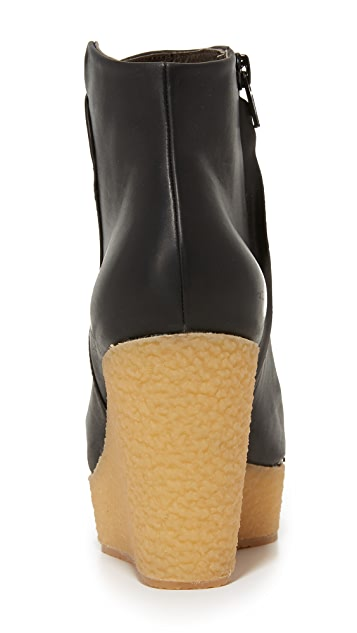 Coclico Shoes Nails Wedge Booties
