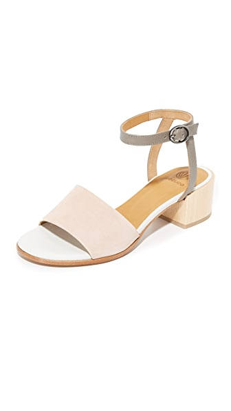 Coclico Shoes Trim City Sandals - Maquillaje/Nikel/White