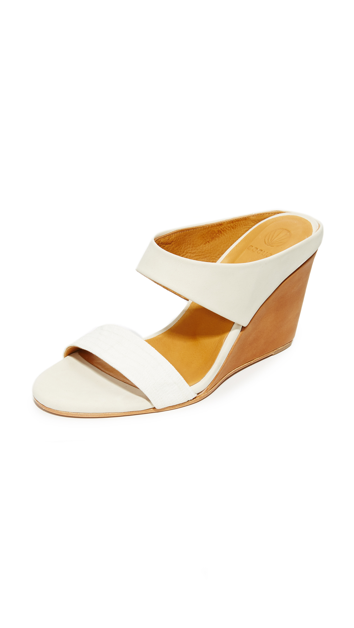 Coclico Shoes Julian Wedges - Off White/Igloo at Shopbop