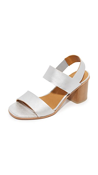 Coclico Shoes Bask Metallic Sandals In Silver