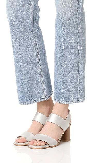 Coclico Shoes Bask Metallic Sandals
