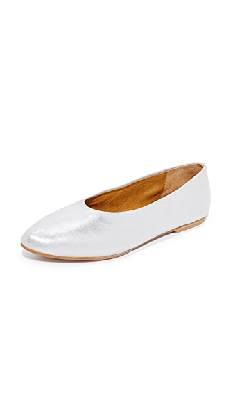 Coclico Shoes Pril Metallic Flats - Silver
