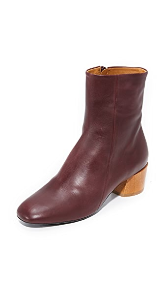 Coclico Shoes Cally Booties - Oxblood