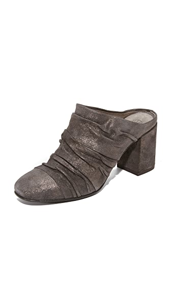 Coclico Shoes Luyo Metallic Mules - Metal Anthracite