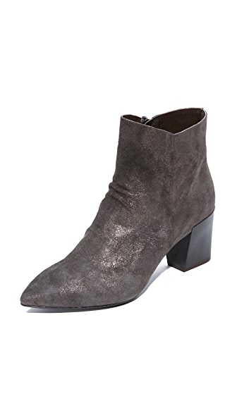 Coclico Shoes Joy Metallic Booties In Metal Anthracite