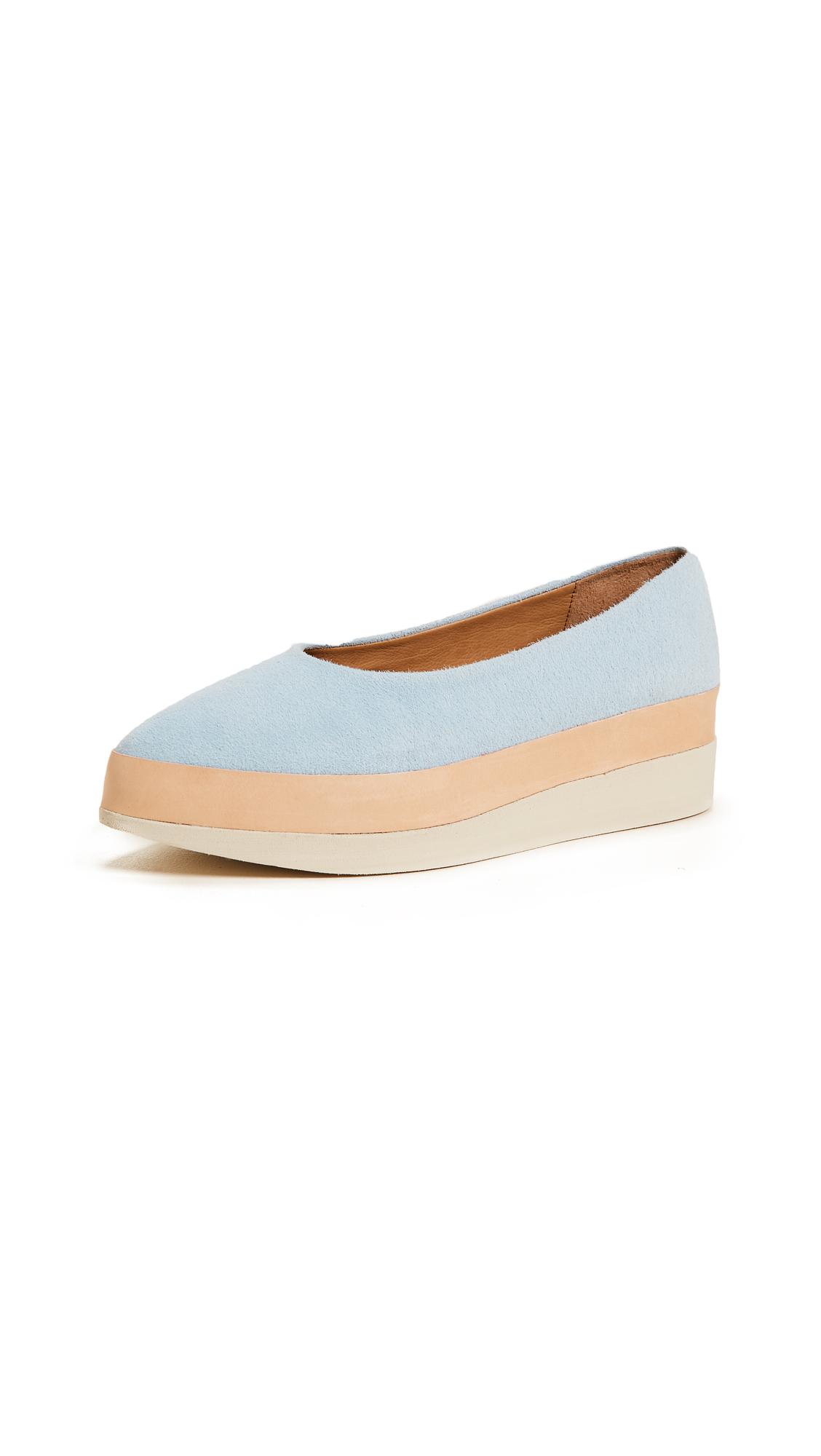 Coclico Shoes Perl Platform Flats - Ante Dew