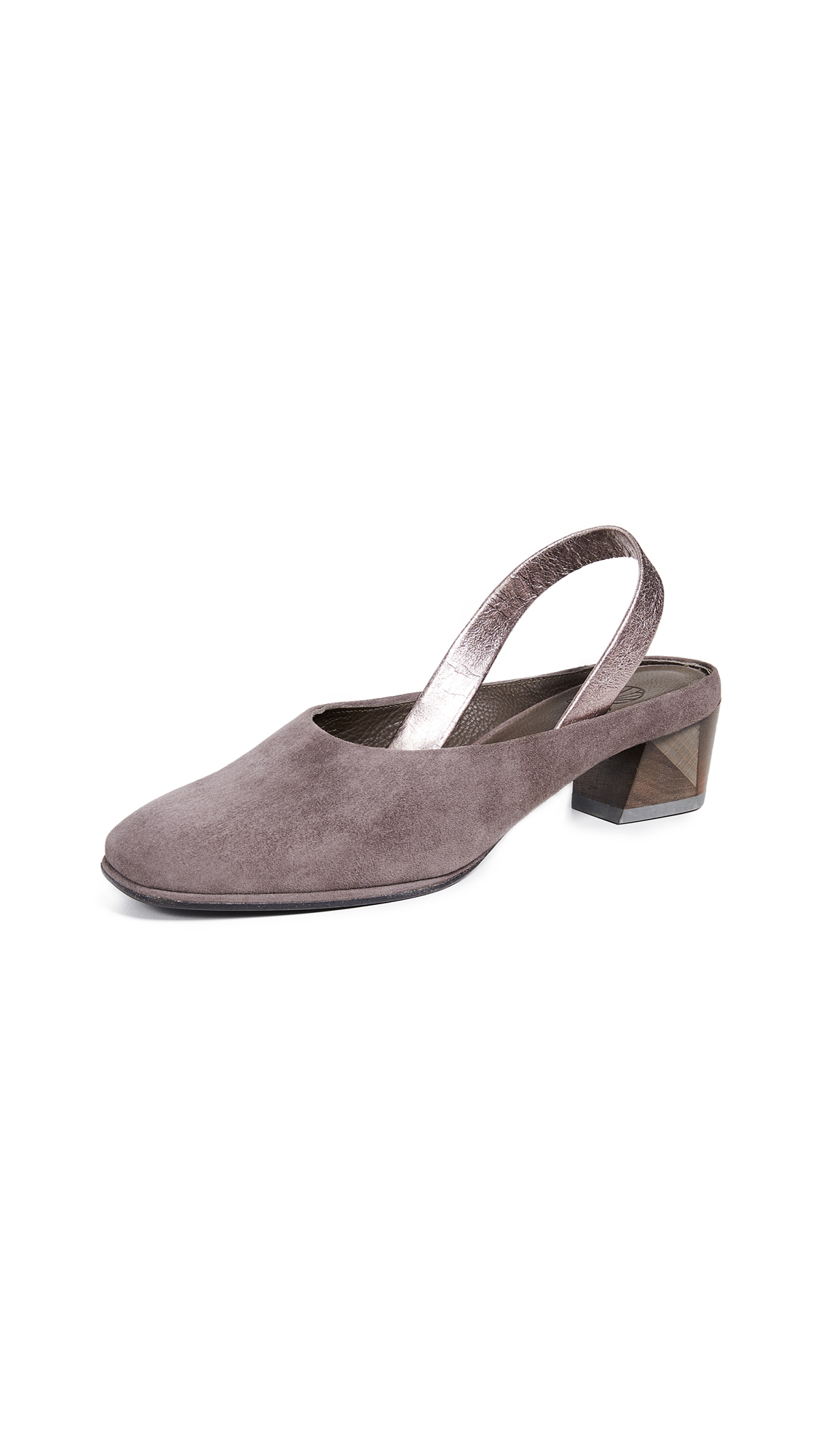 Coclico Shoes Kiko Slingback Pumps - Grey/Purple/Metallic