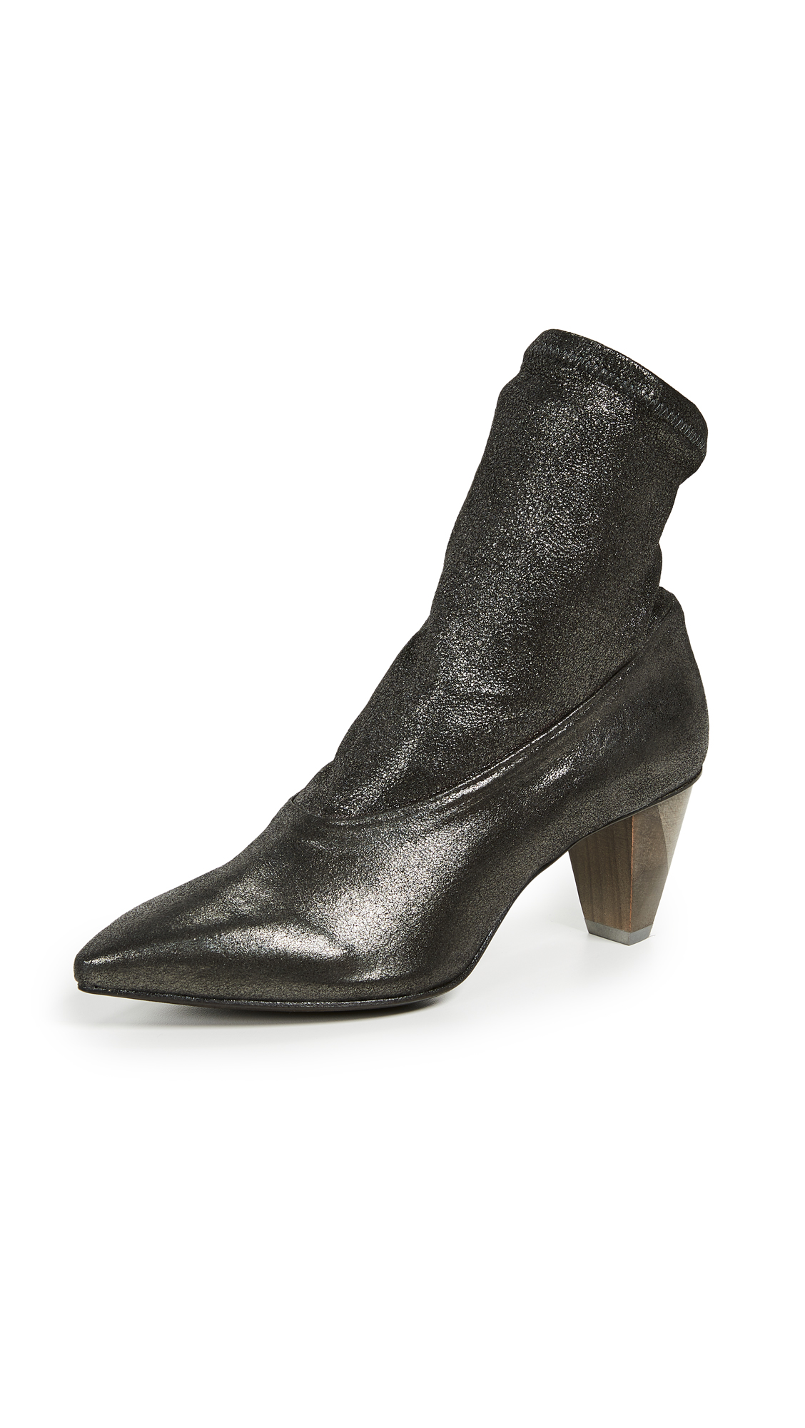 Coclico Shoes Juno Point Toe Booties - Anthracite