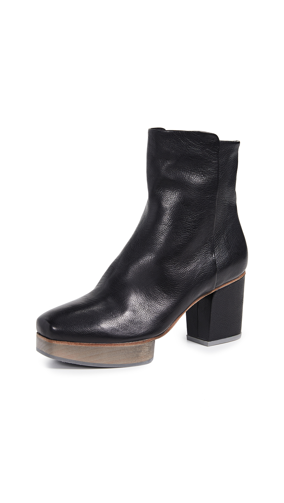 Coclico Shoes Rana Platform Booties - Black