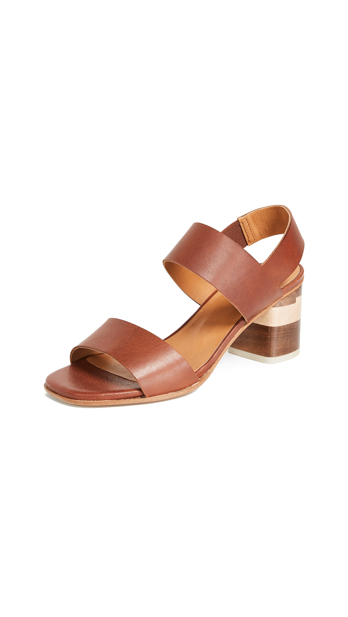 Coclico Shoes Bask Tri Color Sandals - Tan