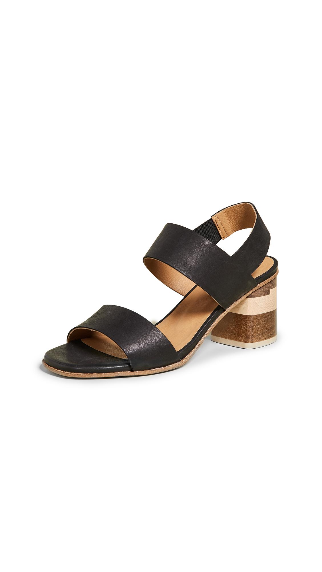 Coclico Shoes Bask Tri Color Sandals - Talco Black