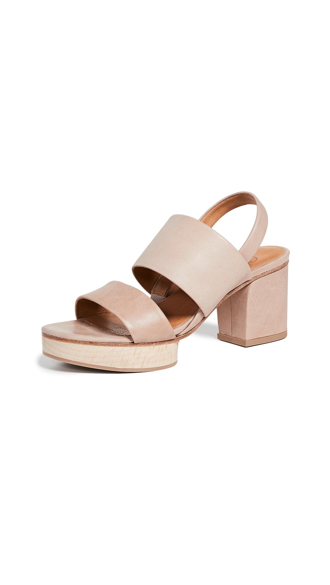 Coclico Shoes Ruby Dew Platform Sandals - Talco Bone