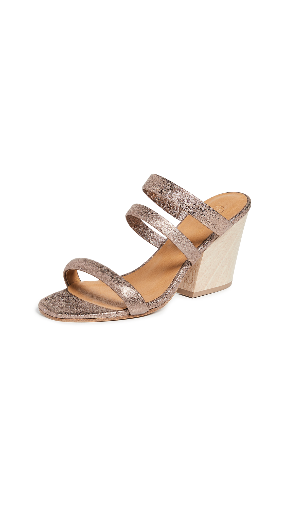 Coclico Shoes Tamara Strappy Mules - Metal Maquillage