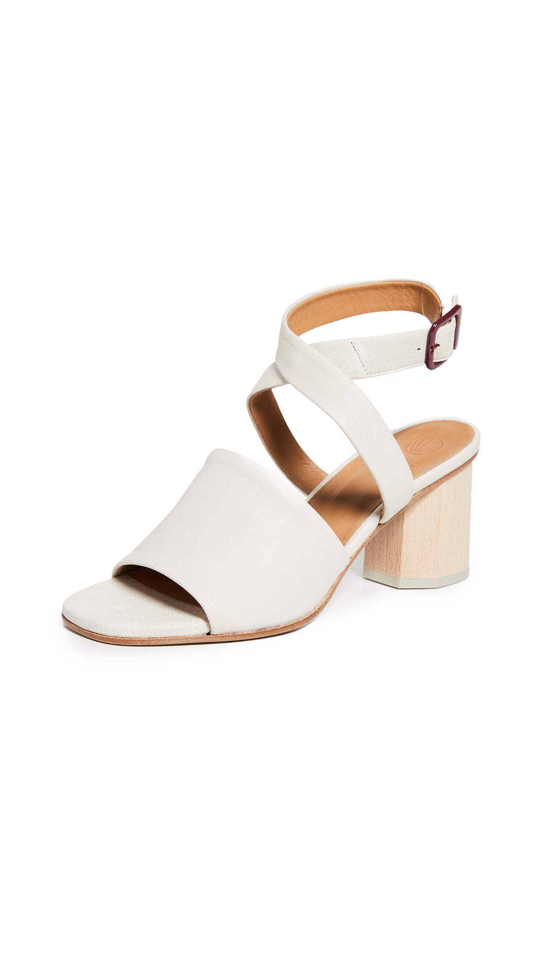 Coclico Shoes Billie Block Heel Sandals - Rock Avorio
