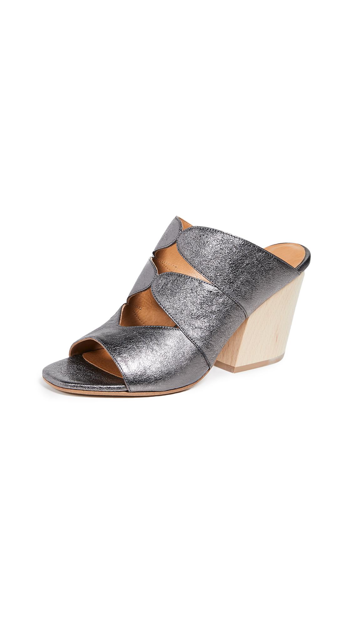 Coclico Shoes Tampico Block Heel Mules - Break Metal Calcita