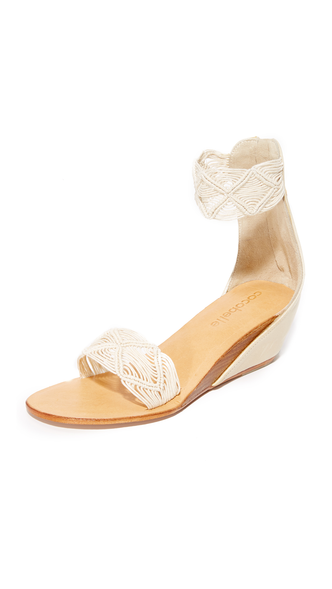 Cocobelle Lilly Wedge Sandals - Ivory at Shopbop