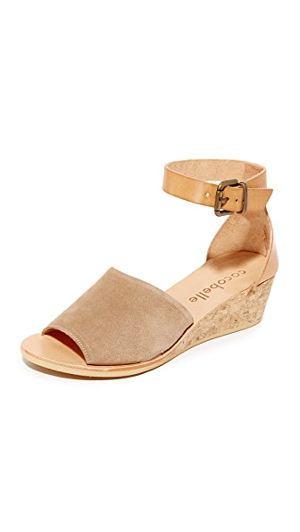 Cocobelle Sedona Wedge Sandals - Brown