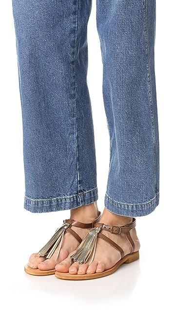 Cocobelle Gallipoli Fringe Thong Sandals