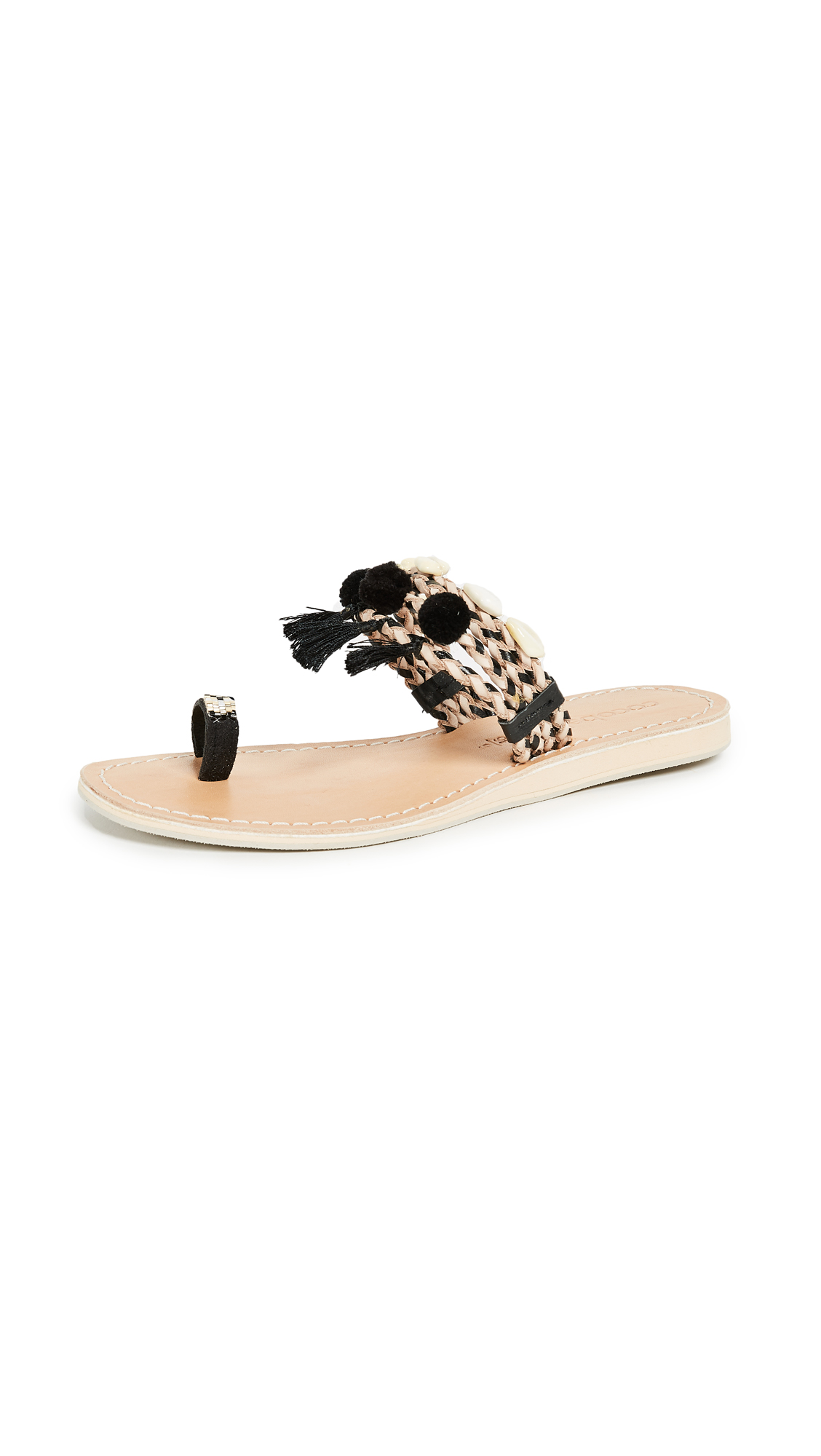 Cocobelle Kopi Toe Ring Sandals - Black