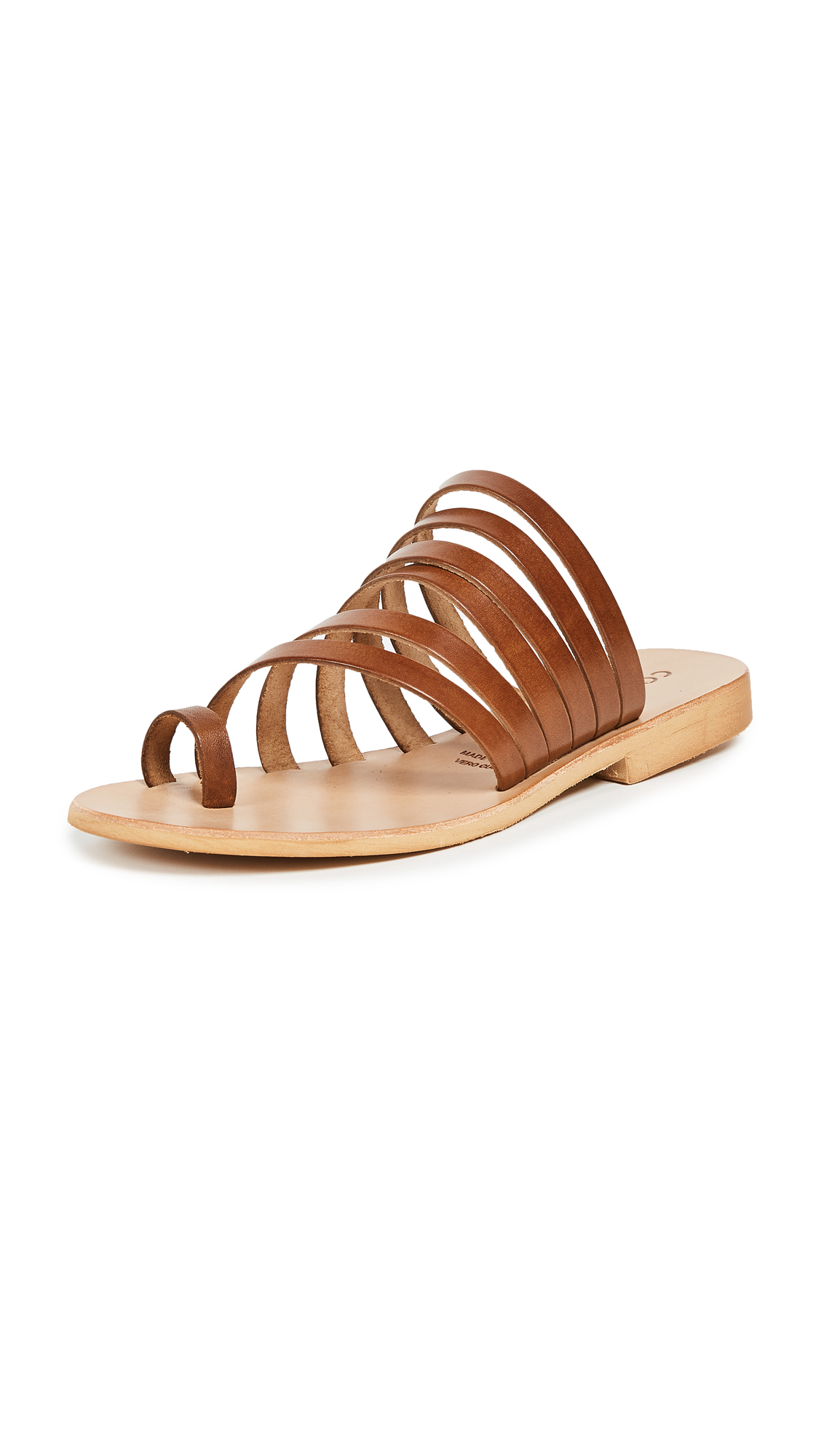 Cocobelle Palermo Strappy Slides - Brown