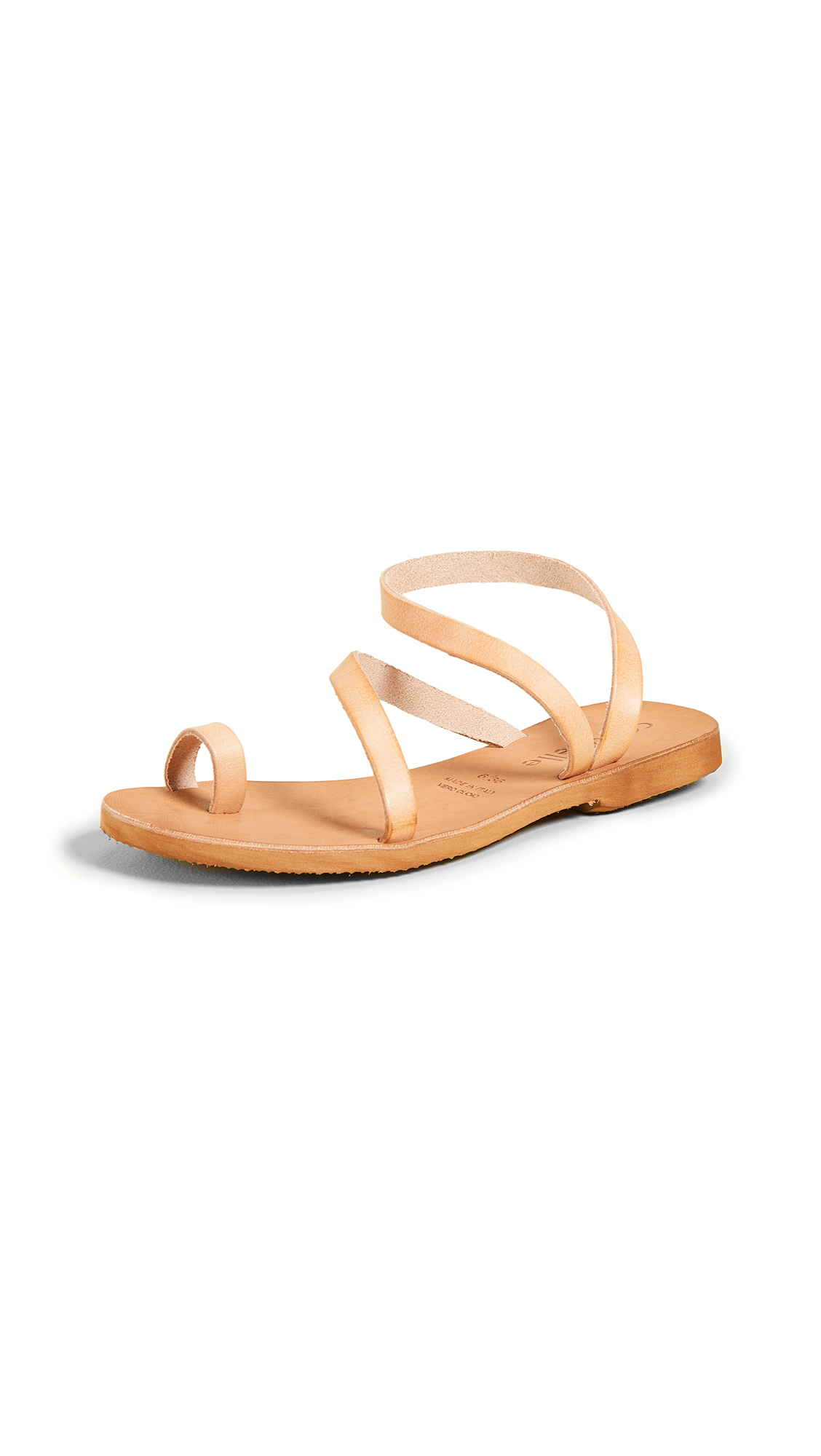 Cocobelle Crescent Strappy Sandals - Natural