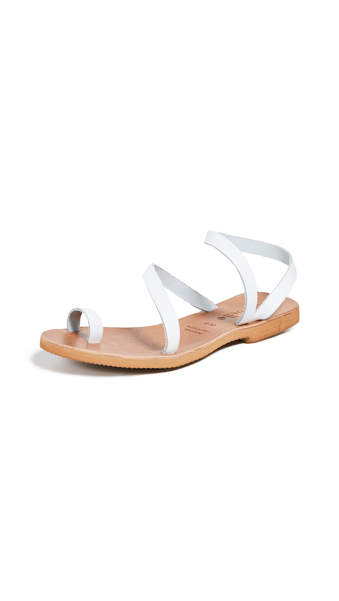 Cocobelle Crescent Strappy Sandals - White