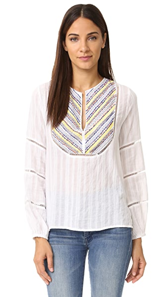 Chloe Oliver Capistrano Embroidered Top - White at Shopbop