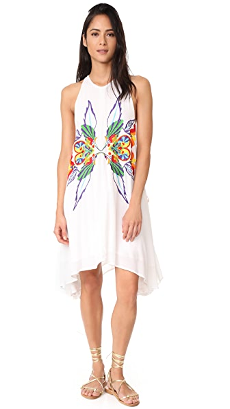 Chloe Oliver High Neck Embroidered Swing Dress