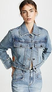 Colovos Cropped Vintage Denim Jacket
