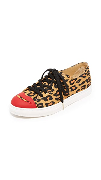Charlotte Olympia Kiss Me Sneakers - Leopard