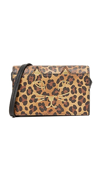 Charlotte Olympia Feline Cross Body Clutch - Leopard