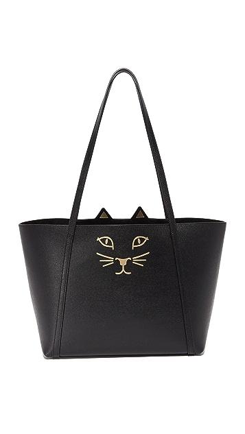 Charlotte Olympia Mini Feline Shopper Tote